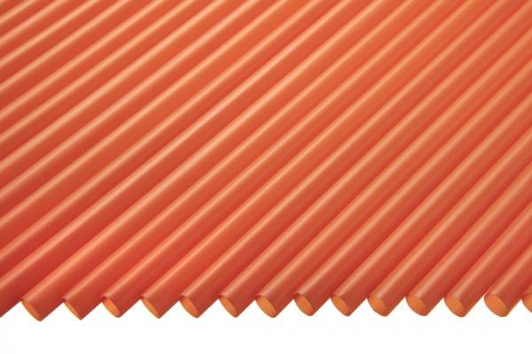 Trinkhalme Gerade, 5x130mm, orange 250 Stk./Beutel