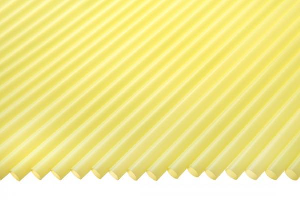 Trinkhalme Gerade, 6,5x270mm, gelb 250 Stk./Beutel