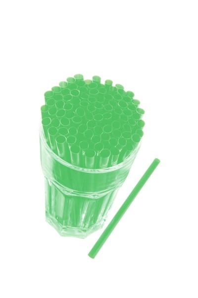 Caipirinha Trinkhalme, 8x145 mm, grün 250 Stk./Beutel*