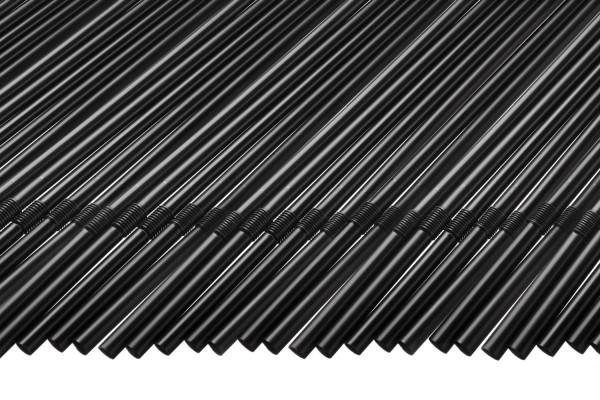 Knick Trinkhalme, 5x210 mm, schwarz 250 Stk./Beutel* (**)
