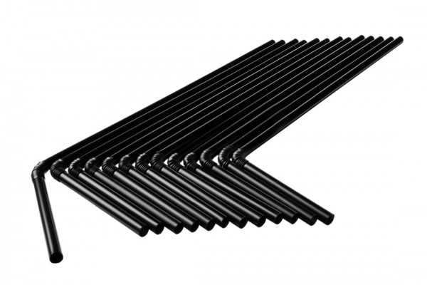 Knick Trinkhalme, 5x240 mm, schwarz 250 Stk./Beutel