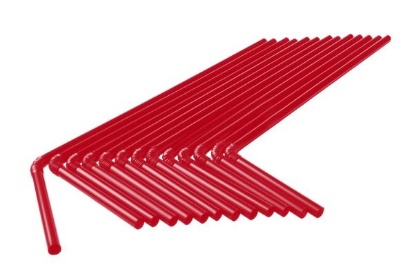 Knick Trinkhalme, 5x210 mm, rot 250 Stk./Beutel (**)