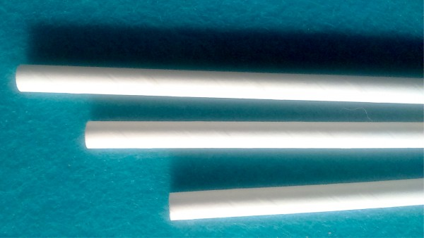 Trinkhalme aus Papier - 6x205mm - weiß 500 Stk./Beutel