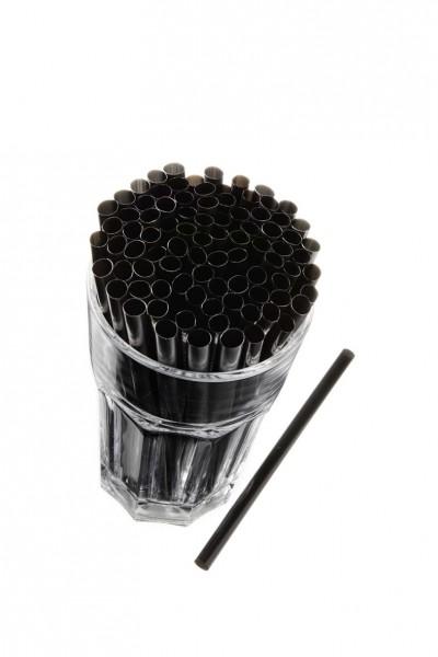 Caipirinha Trinkhalme, 8x145 mm, schwarz 250 Stk./Beutel*