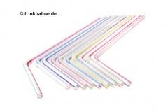 Strohhalm-Trinkhalme-Strohhalme-Trinkhalm-Knick-Flex-5x240mm-250Stueck-weiss-mit-streifen