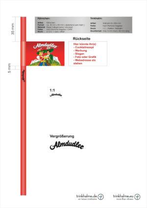 słomka z flagą Almdudler.cdr