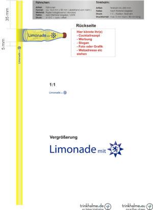 słomki z butelką Limonade mit.cdr