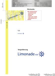 słomki z flagą Limonade mit.cdr
