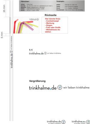 Słomka z flagą Trinkhalme de.cdr