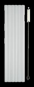 Glasstrohhalme mit Reinigungsbürste aus Baumwolle