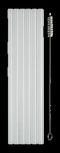 Glasstrohhalme mit Reinigungsbürste aus Nylon